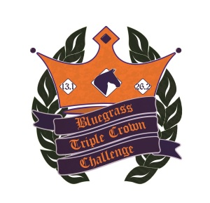 Design for the Bluegrass Triple Crown Challenge finisher's medal