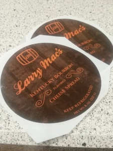 bourbon beer cheese logo and label design