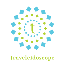 Logo for travel blog Traveleidoscope