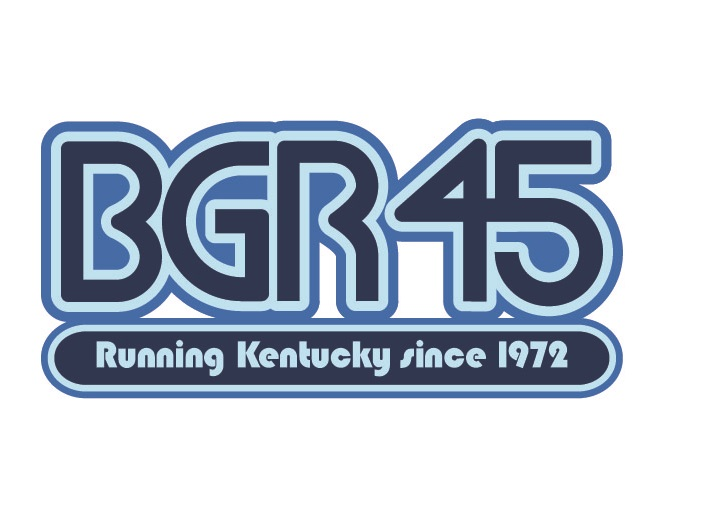 Bluegrass Runners 45th anniversary logo