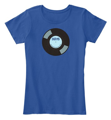 BGR45 vinyl record T-shirt for Bluegrass Runners 45th anniversary