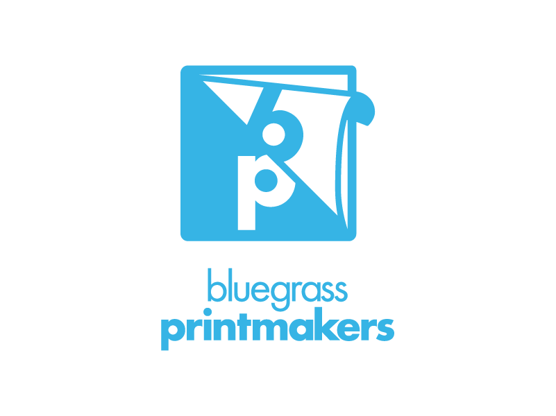 Logo for Bluegrass Printmakers of Lexington, Kentucky