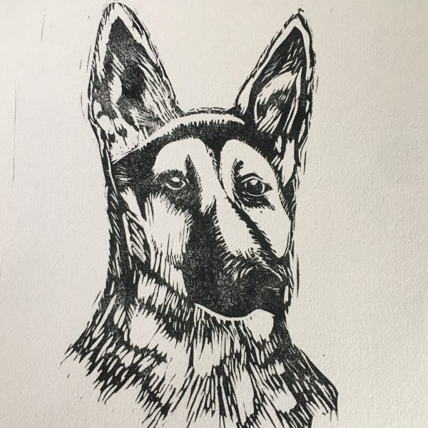 Barley German Shepherd print