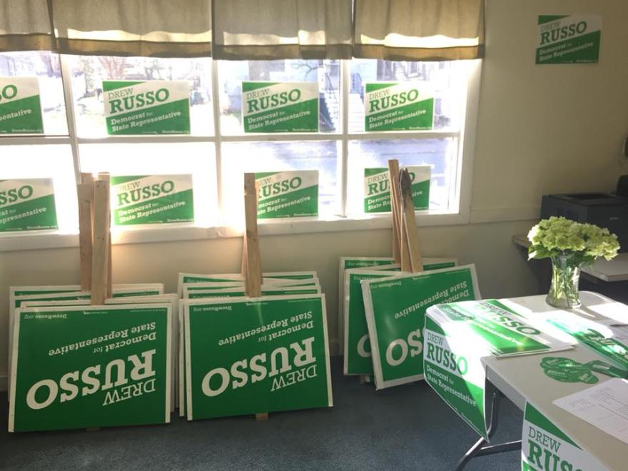 Drew Russo campaign signs