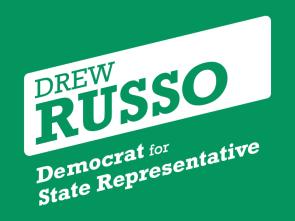 Drew Russo campaign logo